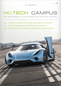 Cover HI:TECH CAMPUS, Magazin Ingenieure, Karrieremagazin HI:TECH CAMPUS, HI:TECH CAMPUS