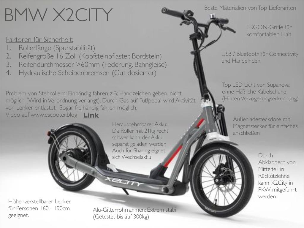 """X""""City BMW, E-Roller BMW, Preis X"""" BMW"""